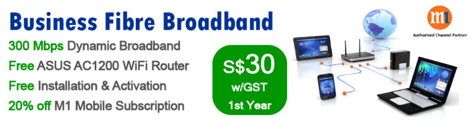 Business Broadband from S$0 w/GST